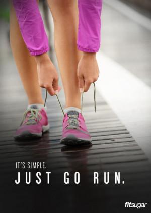 Running Motivation Poster: Just Go Run