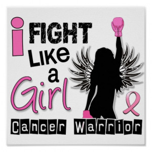 Fight Like A Girl Breast Cancer 26.2 Poster