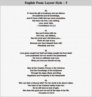 English Poem Layout - 5