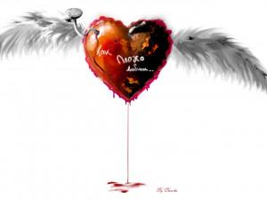 Bleeding Heart Love Wallpaper