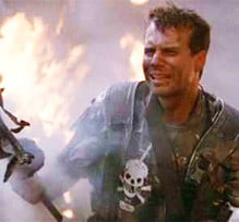 Aliens starring Bill Paxton as Private Hudson in Game Over moment ...