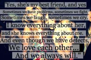 Yes She Is My Best Friend…