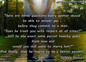 how a man should treat a woman quotes