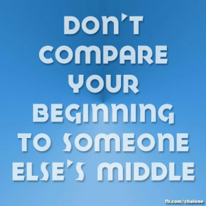 Run your own race, not someone else's!