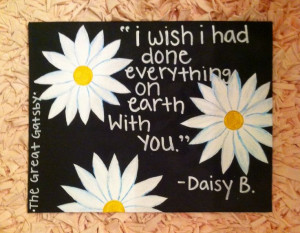 Daisy canvas quote from gatsby