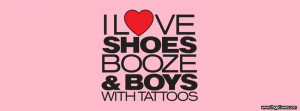 Love Shoes Booze Boys With Tattoos Cover