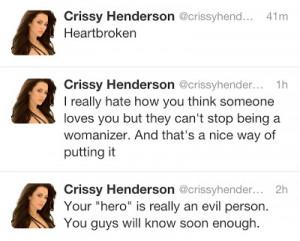 Crissy Henderson Excited to start new phase of life