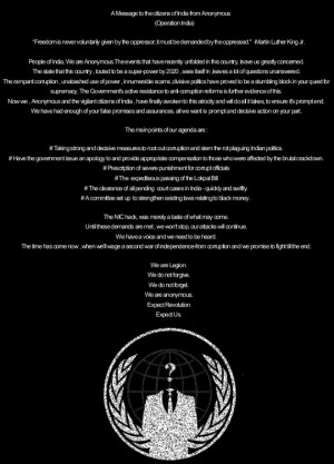 Anonymous Hackers Quotes From the hacking group.