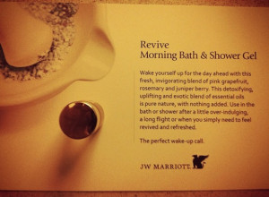 ... from Aromatherapy Associates at JW Marriott Los Angeles LA LIVE Hotel