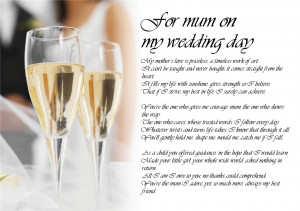 ... Poem Poetry for Bride Daughter from Parents Wedding Day LAMINATED