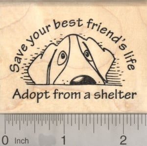 Item: J-20919 Animal Welfare Rubber Stamp, Save your best friend's ...