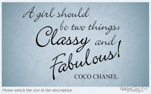 CLASSY AND FABULOUS VINYL WALL DECAL STICKER QUOTE LETTERING ART HOME ...