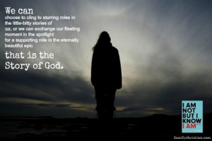 LOVE this... Quote is from Louie Giglio.