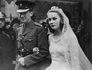 Young love: Lady Cromer, seen here on her wedding day to the third ...