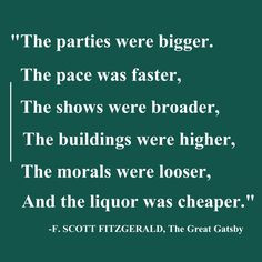 The Great Gatsby More