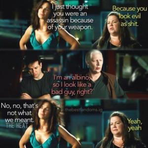 s2g • • #theheat #melissamccarthy #albino #dude #funny #movie ...