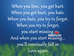 ... Try To Forget. You Start Missing You'll Eventually Fall In Love