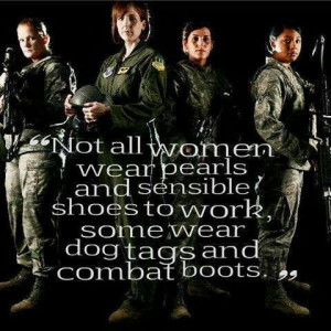 Salute to military women.