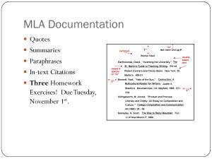 MLA Documentation.ppt by handongqp