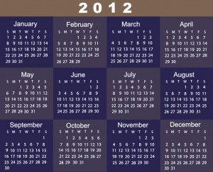 73427 Printable Yearly Calendar 2012