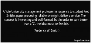 Yale University management professor in response to student Fred ...