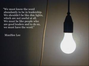 Man Hee Lee Quotes] Bright Light - shincheonji