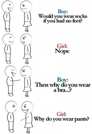 Funny Boy And Girl Quotes