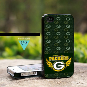 Green Bay Packers NFL Logo Life Quotes - For iPhone 4 / 4s Black Case