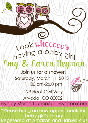 Girlie Owl FREE Party Printables!