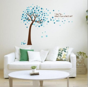 ... Quote I love you, Wall Sticker Decals PVC Removable Wall Decal For