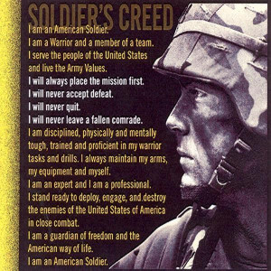Soldier's Creed (Photo credit: http://1.bp.blogspot.com/_AYomJRm9dwY ...
