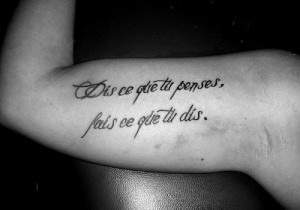 Cool Arm Quote Tattoos Bicep