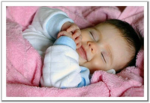 Babies sleeping are so cute and peaceful the just make you smile.