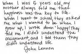 An inspiring quote by John Lennon