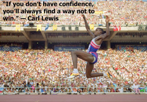Carl Lewis on confidence