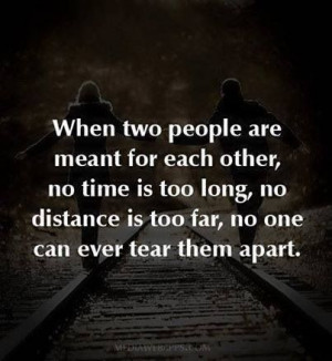 When two people are meant to be together