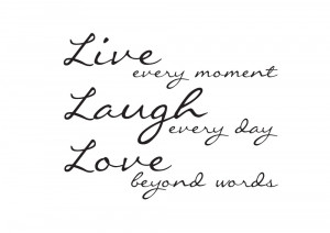 Live Laugh Love Wall Quote Sticker