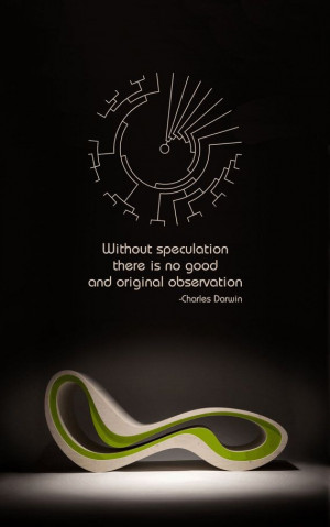 Science art evolutionary biology Darwin quote and phylogenetic tree ...