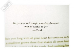 Be patient quote