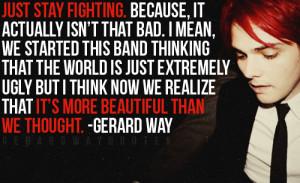Just a Few Gerard Way Quotes :)