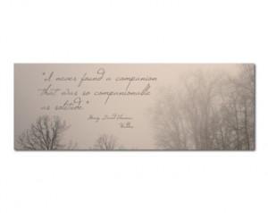 Photo Bookmark Trees | Henry David Thoreau Walden Quote | Solitude ...