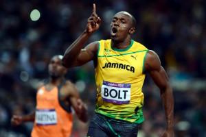 Usain Bolt Running 100m 2012 Olympics