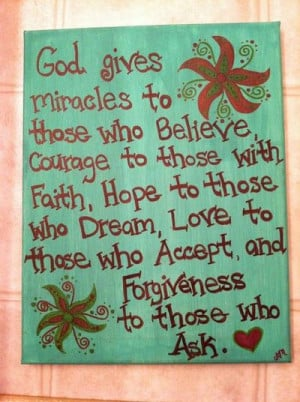 Christian Faith Quote Canvas Painting Made by AnnaCarolinesCrafts, $10 ...