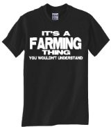 Mens Funny T-Shirt (I'D RATHER BE FARMING) Unisex Men's Shirt [Apparel ...