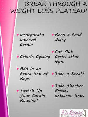 How to Break Through a Weight Loss Plateau #fitspo #fitfluential # ...