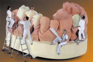 Dental lab work takes a team approach!