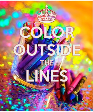 Color outside the lines. - Bazaart