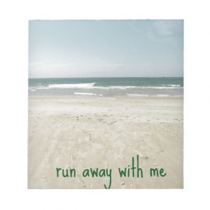 Romantic Beach Design with Quote Memo Note Pads