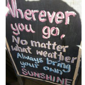 The Sun is Shining!