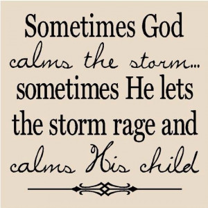 Rising above the storm...